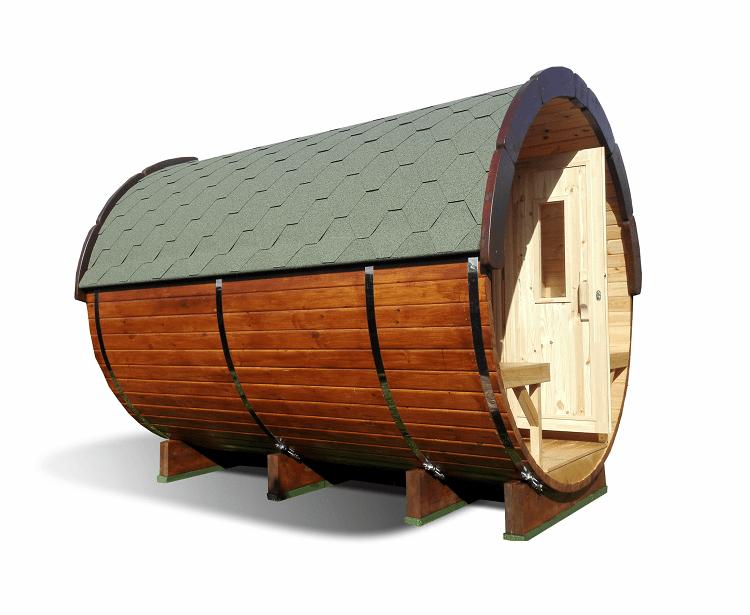 Hordószauna 2,4 m/Ø 1,97 m
