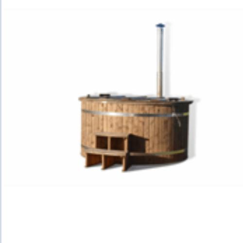 Ø 1,5 m PP dézsafürdő merülőkazánnal, thermo borovi oldallal
