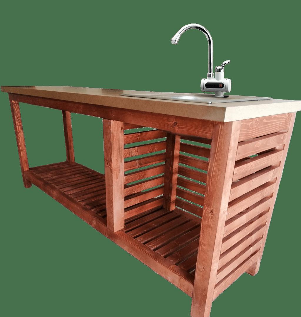 Mobil kerti konyha keverő elektromos digitális csapteleppel